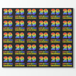 [ Thumbnail: 29th Birthday: Bold, Fun, Simple, Rainbow 29 Wrapping Paper ]