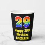 [ Thumbnail: 29th Birthday: Colorful, Fun, Exciting, Rainbow 29 ]