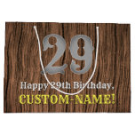 [ Thumbnail: 29th Birthday: Country Western Inspired Look, Name Gift Bag ]