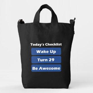 29th Birthday Duck Bag