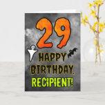 [ Thumbnail: 29th Birthday: Eerie Halloween Theme + Custom Name Card ]