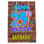 [ Thumbnail: 29th Birthday: Fun, Urban Graffiti Inspired Look Gift Bag ]