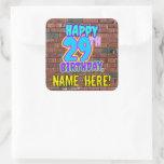 [ Thumbnail: 29th Birthday – Fun, Urban Graffiti Inspired Look Sticker ]