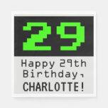"""[ Thumbnail: 29th Birthday - Nerdy / Geeky Style """"29"""" & Name Napkins ]"""