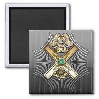 29th Degree: Knight of Saint Andrew 2 Inch Square Magnet