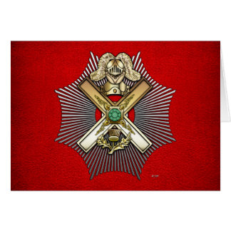 29th Degree: Knight of Saint Andrew Card