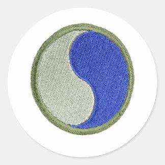 29th Infantry Classic Round Sticker