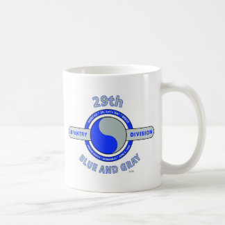 """29TH INFANTRY DIVISION """"BLUE AND GRAY"""" COFFEE MUG"""