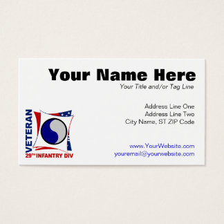 29th Infantry Division Veteran Business Card