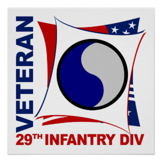 29th Infantry Division Veteran Poster