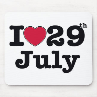 29th july my day of birthday mouse pad