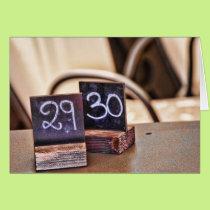 29th or 30th Birthday Card - Italian Restaurant