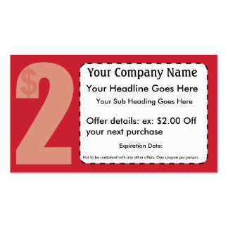 2 00 De tarjeta de la cupón Tarjeta Personal