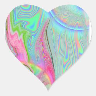 2,0 pegatinas psicodélicos (20 por la hoja) pegatina en forma de corazón