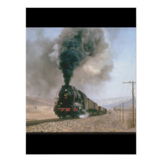 2-10-0 No 56309 crosses the barren_Steam Trains Poster