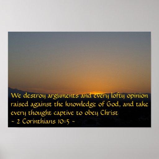 2 10:5 de los Corinthians Póster