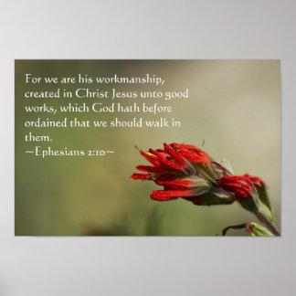 2:10 de Ephesians Póster