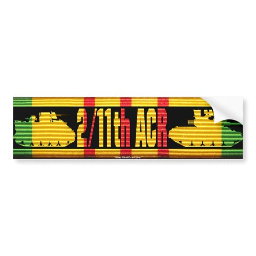 2/11th ACR VSM Ribbon Cut-Out Bumper Sticker zazzle_bumpersticker