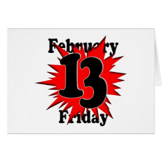 2-13 Friday the 13th Card