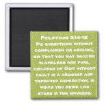 2:14 de los filipenses del estímulo del verso de l imán cuadrado