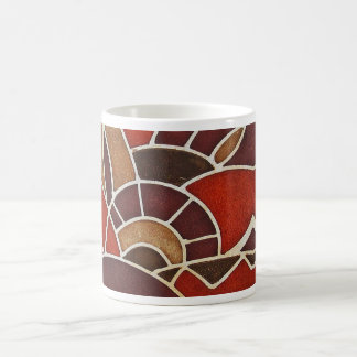 #2 1928 Deco glass panel from the Oviatt Building Classic White Coffee Mug