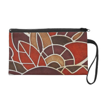 #2 1928 Deco glass panel from the Oviatt Building Wristlet