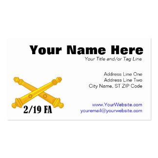 2/19 Field Artillery Business Card Template