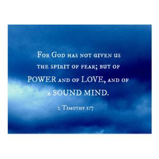2 1:7 de Timothy para dios no han dado…. Postales