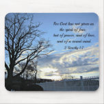 2 1:7 de Timothy para dios no nos han dado el alco Tapete De Ratones