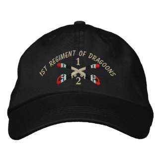 2-1st Cavalry Iraq Crossed Sabers Embroidered Hat
