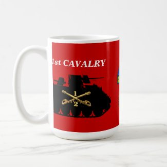 2/1st Cavalry M113 ACAV Track Mug mug