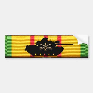 2/1st Cavalry M48A3 on VSM Ribbon Bumper Sticker