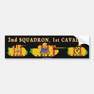 2/1st Cavalry VSR Armored Vehicles Bumper Sticker