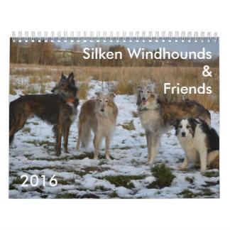 2 2016 calendario de seda de Windhounds y de los