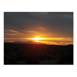 2/20/12 Sunset in Congress, Arizona Postcard
