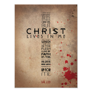 2:20 de Galatians Póster