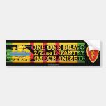 2/22nd Inf. 25th Div. One One Bravo Bumper Sticker Car Bumper Sticker