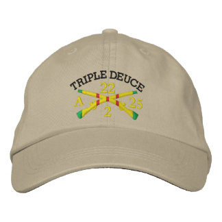 2/22nd Inf. 25th I.D. Crossed Rifles Embroider Hat