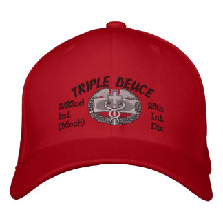 2/22nd Inf. 25th Inf Div. CMB Embroidered Hat