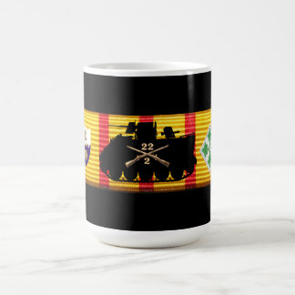 2/22nd Inf., 4th Inf. Div. Vietnam Service Ribbon Classic White Coffee Mug