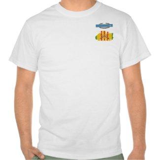 2/22nd Infantry CIB VSM Track Front & Back Print S T-shirt
