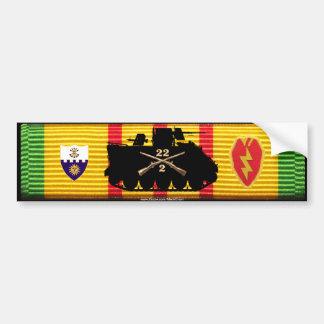 2 22o Inf 25ta pista y insignias VSM de los Inf D Pegatina De Parachoque