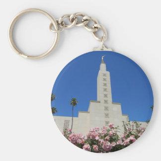 """2.25"""" Basic Button Keychain LA Temple"""