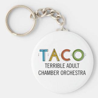 """2.25"""" Basic TACO Button Keychain"""