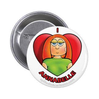 2 25 botón de Annabelle del corazón de I Pin