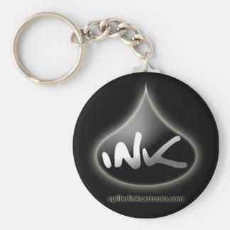 "2.25"" Ink Drop Key Chain - Black"