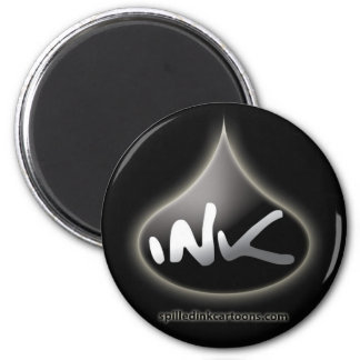 """2.25"""" Ink Drop Magnet - Black"""