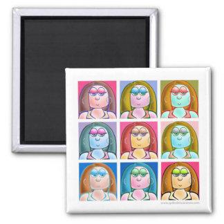 "2.25"" Pop Art Annabelle Magnet"