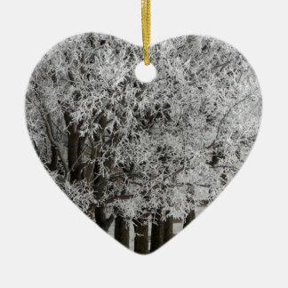 2-26-13 random winter pics 064.JPG Double-Sided Heart Ceramic Christmas Ornament