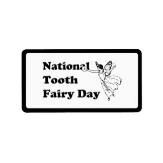 2-28 National Tooth Fairy Day Personalized Address Label